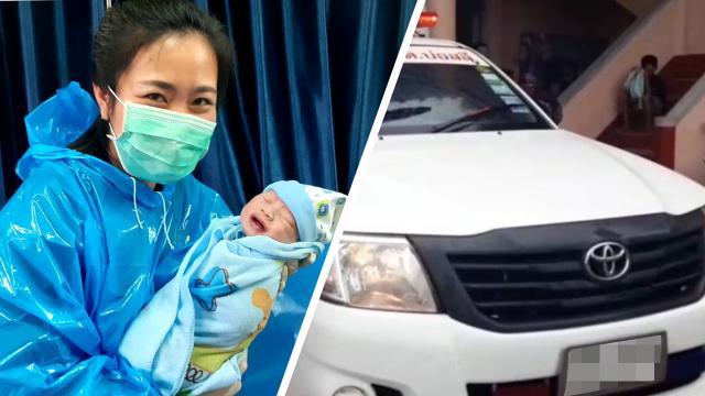แม่คลอดทารกบนรถกู้ภัย